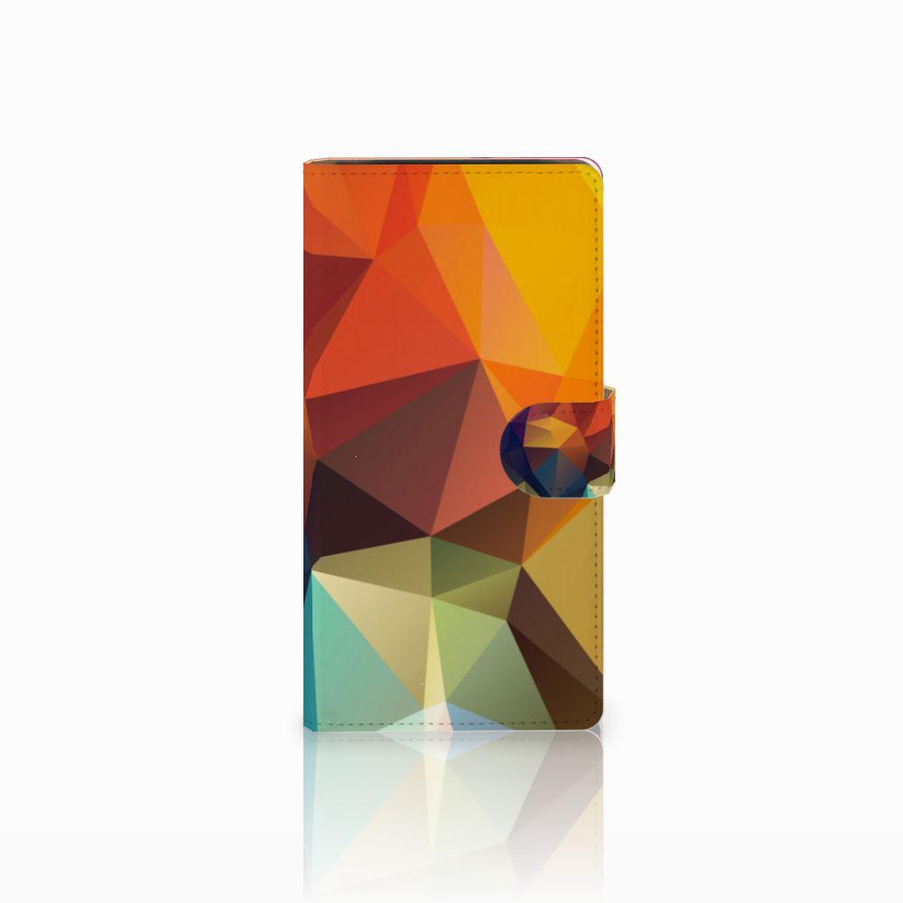 Sony Xperia C4 Bookcase Polygon Color