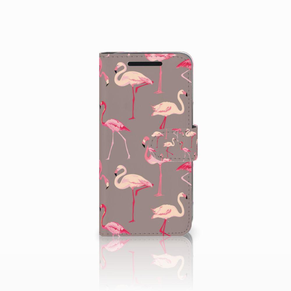 HTC One M9 Uniek Boekhoesje Flamingo