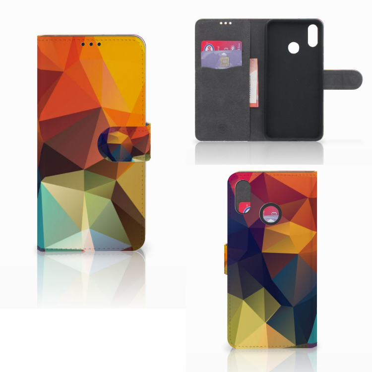 Huawei P Smart Plus Bookcase Polygon Color