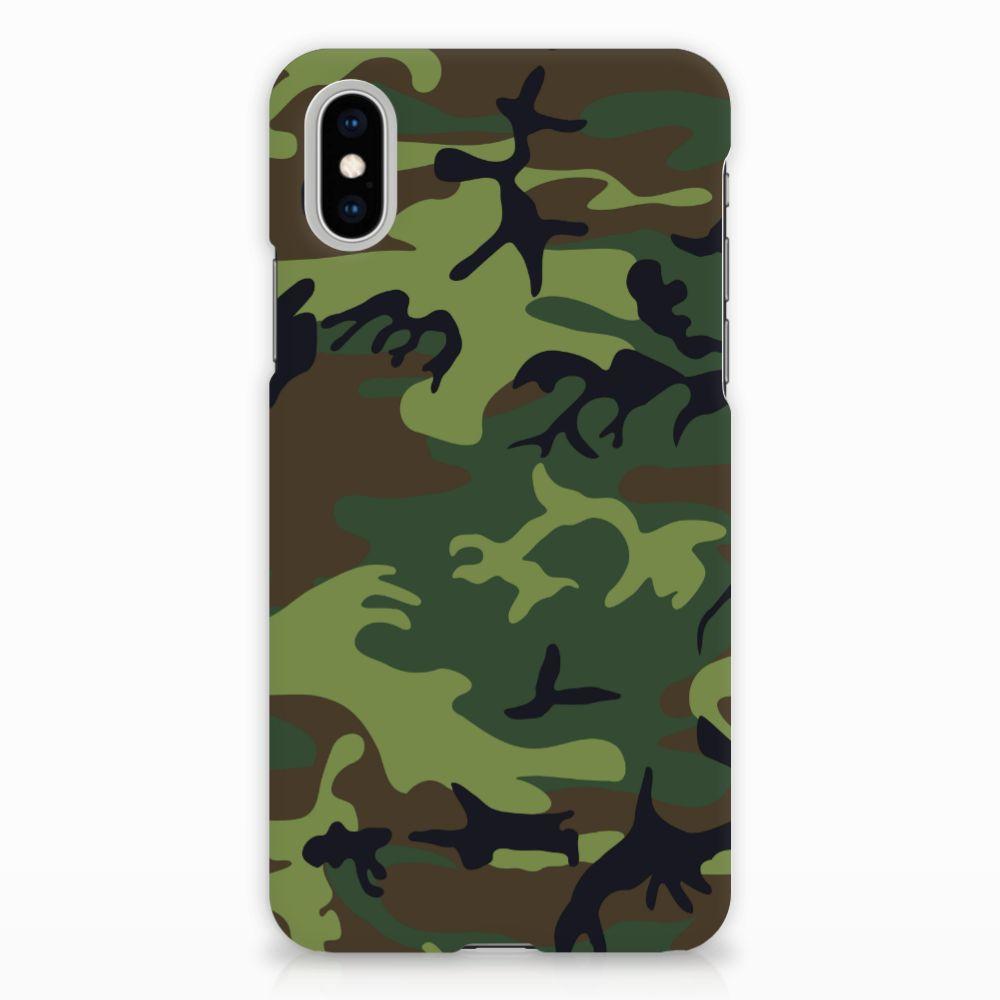 Apple iPhone X | Xs Hardcase Hoesje Design Army Dark
