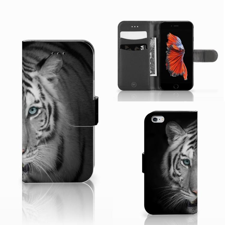 Apple iPhone 6 | 6s Telefoonhoesje met Pasjes Tijger