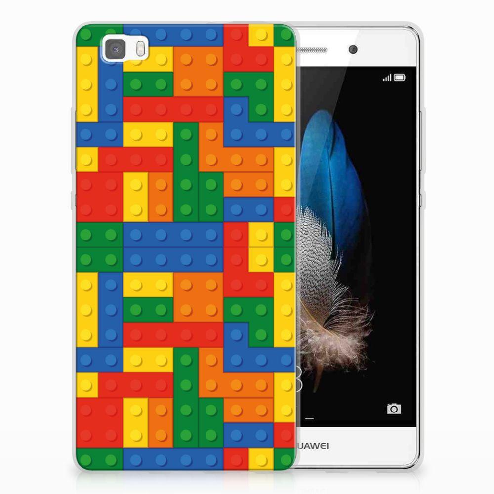 Huawei Ascend P8 Lite TPU Hoesje Design Blokken