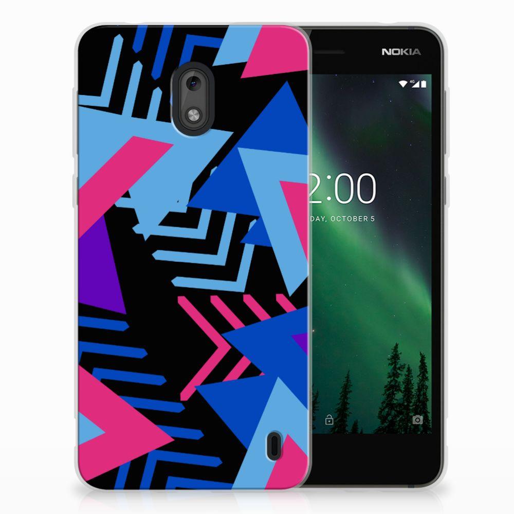 Nokia 2 TPU Hoesje Funky Triangle