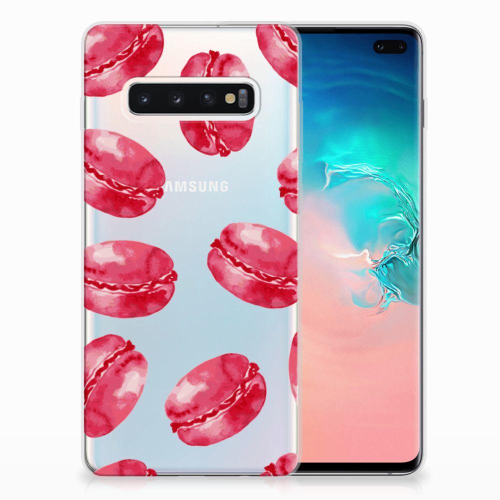 Samsung Galaxy S10 Plus Siliconen Case Pink Macarons