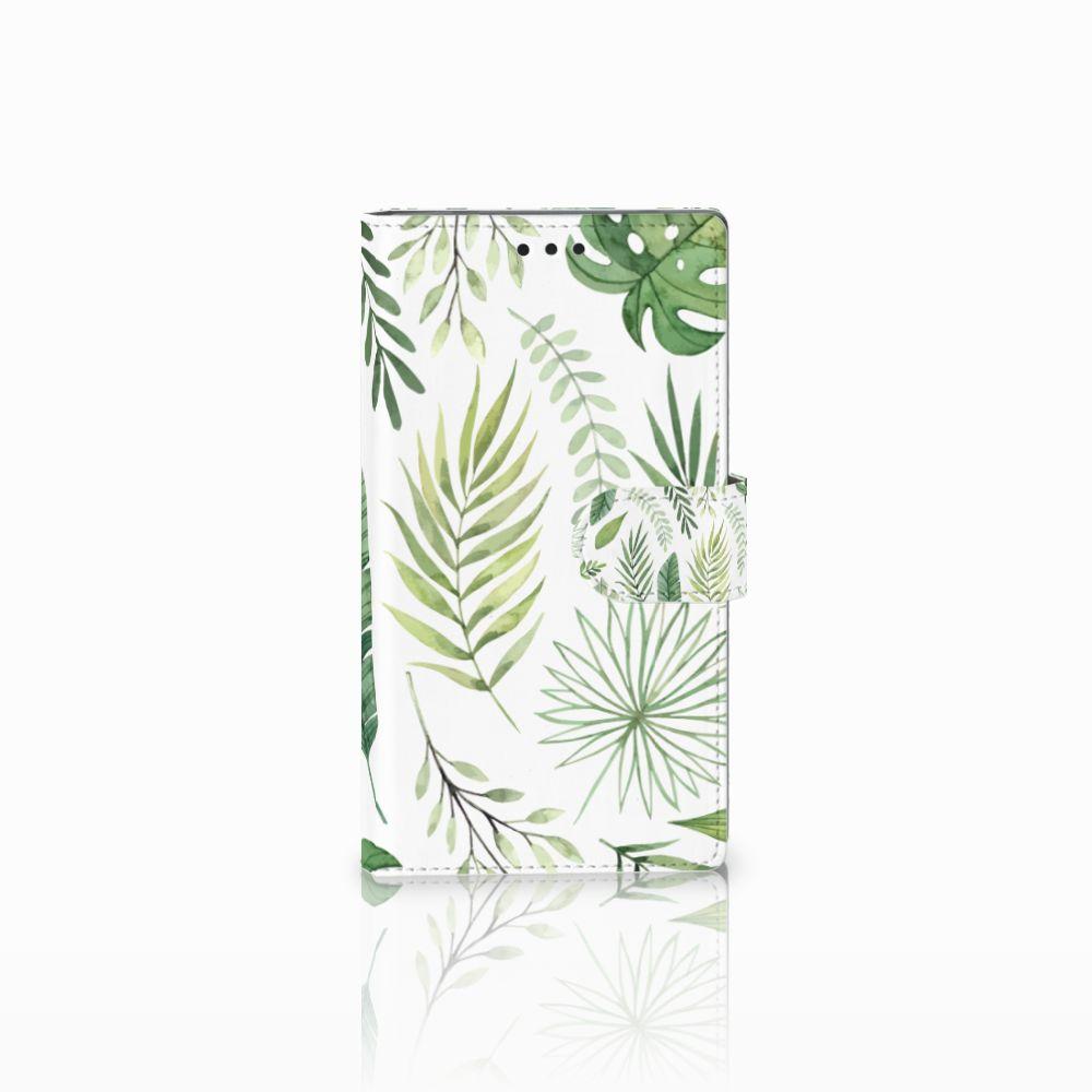 Sony Xperia L2 Uniek Boekhoesje Leaves