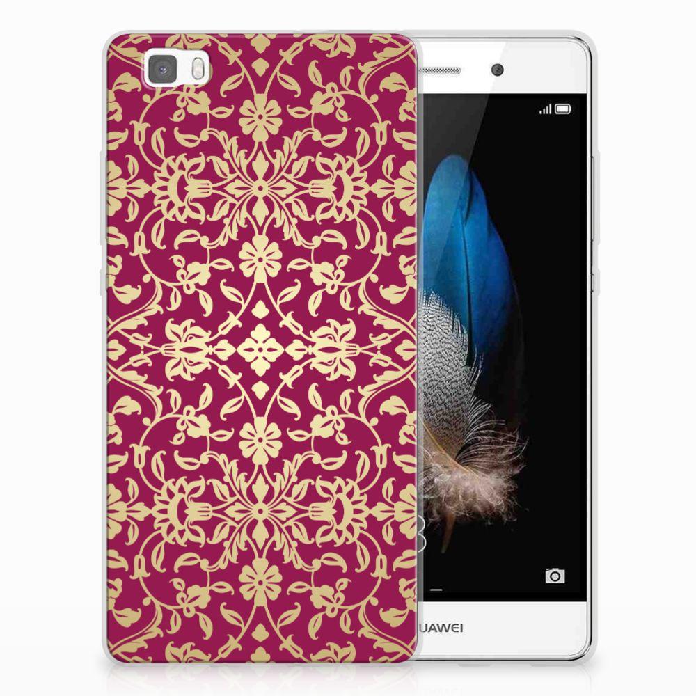 Siliconen Hoesje Huawei Ascend P8 Lite Barok Pink