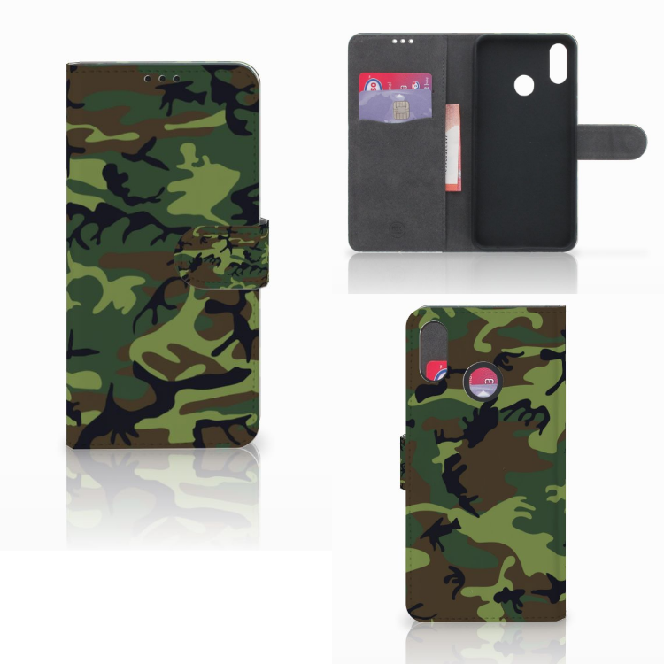 Huawei P Smart Plus Telefoon Hoesje Army Dark