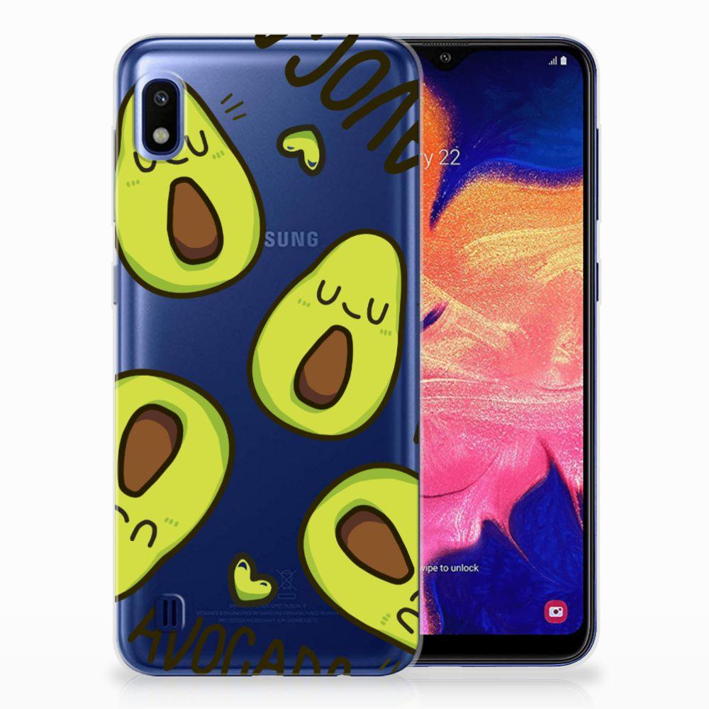 Samsung Galaxy A10 Telefoonhoesje met Naam Avocado Singing