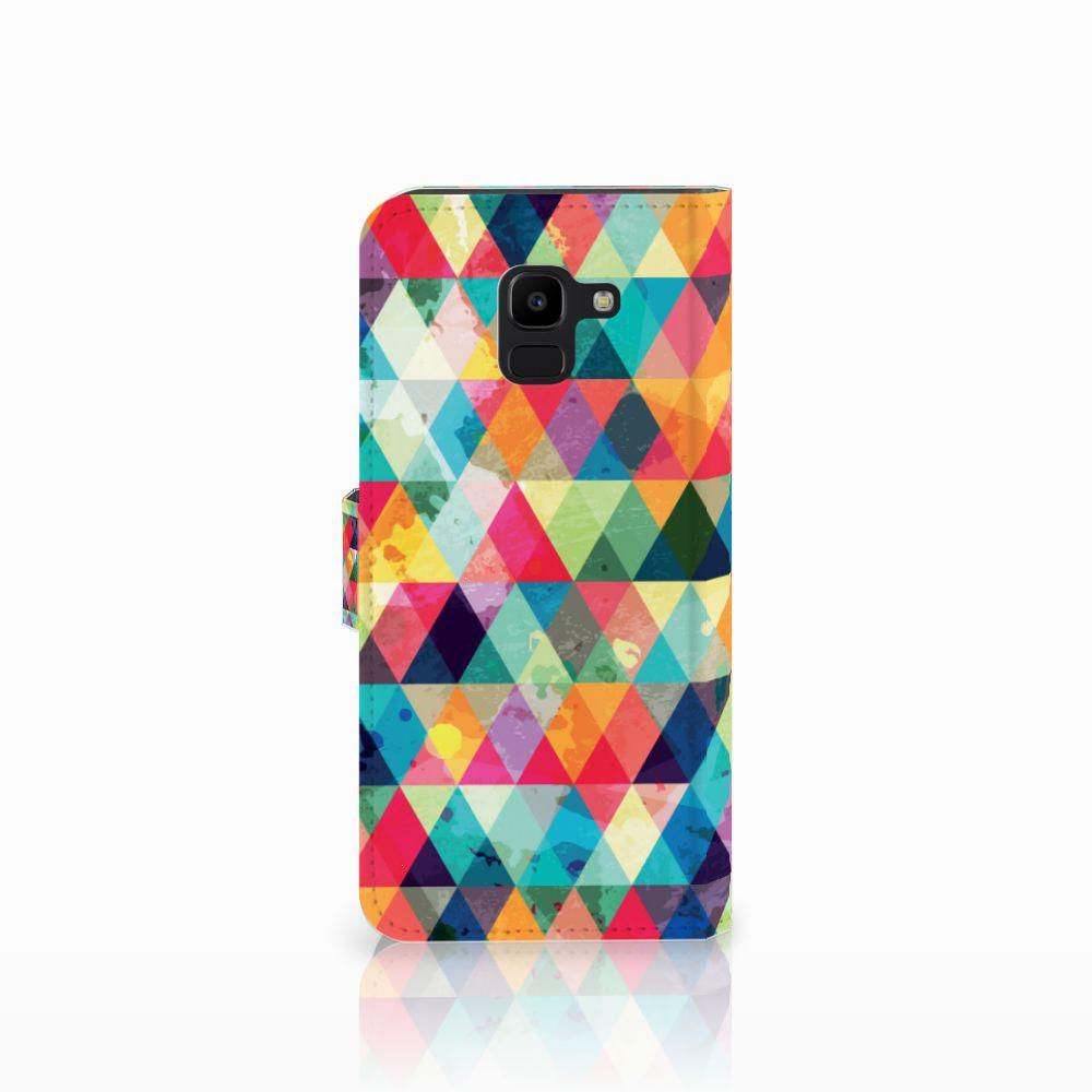Samsung Galaxy J6 2018 Telefoon Hoesje Geruit