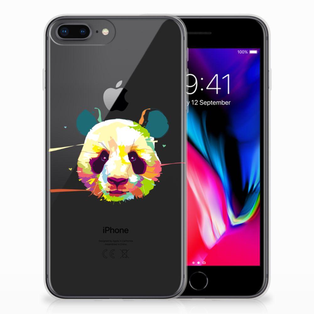 Apple iPhone 7 Plus | 8 Plus Telefoonhoesje met Naam Panda Color