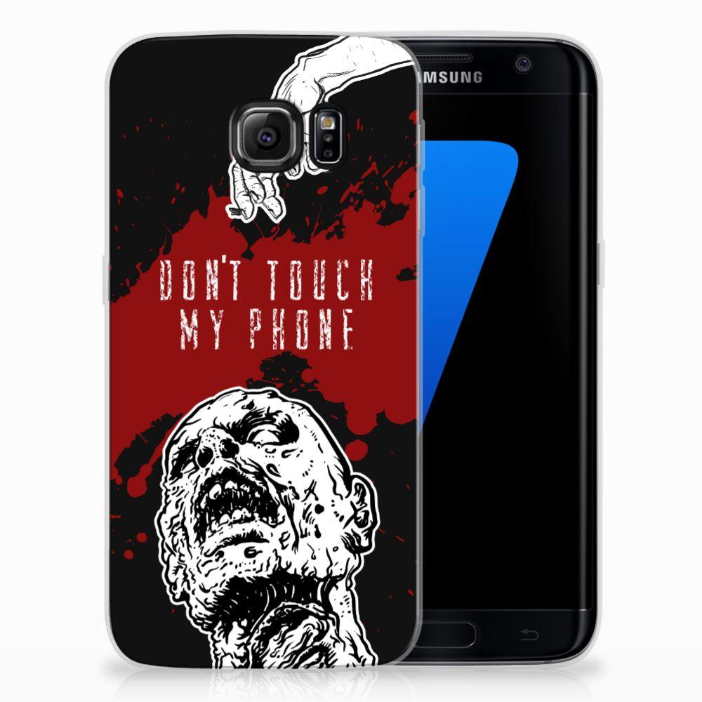 Samsung Galaxy S7 Edge TPU Hoesje Design Zombie Blood