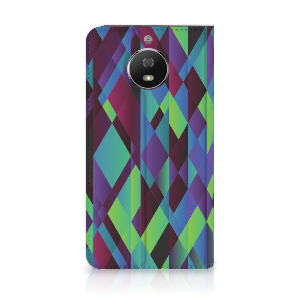 Motorola Moto G5S Stand Case Abstract Green Blue