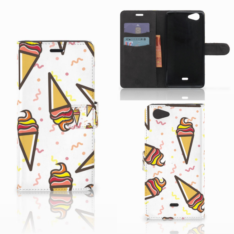 Wiko Pulp Fab 4G Book Cover Icecream