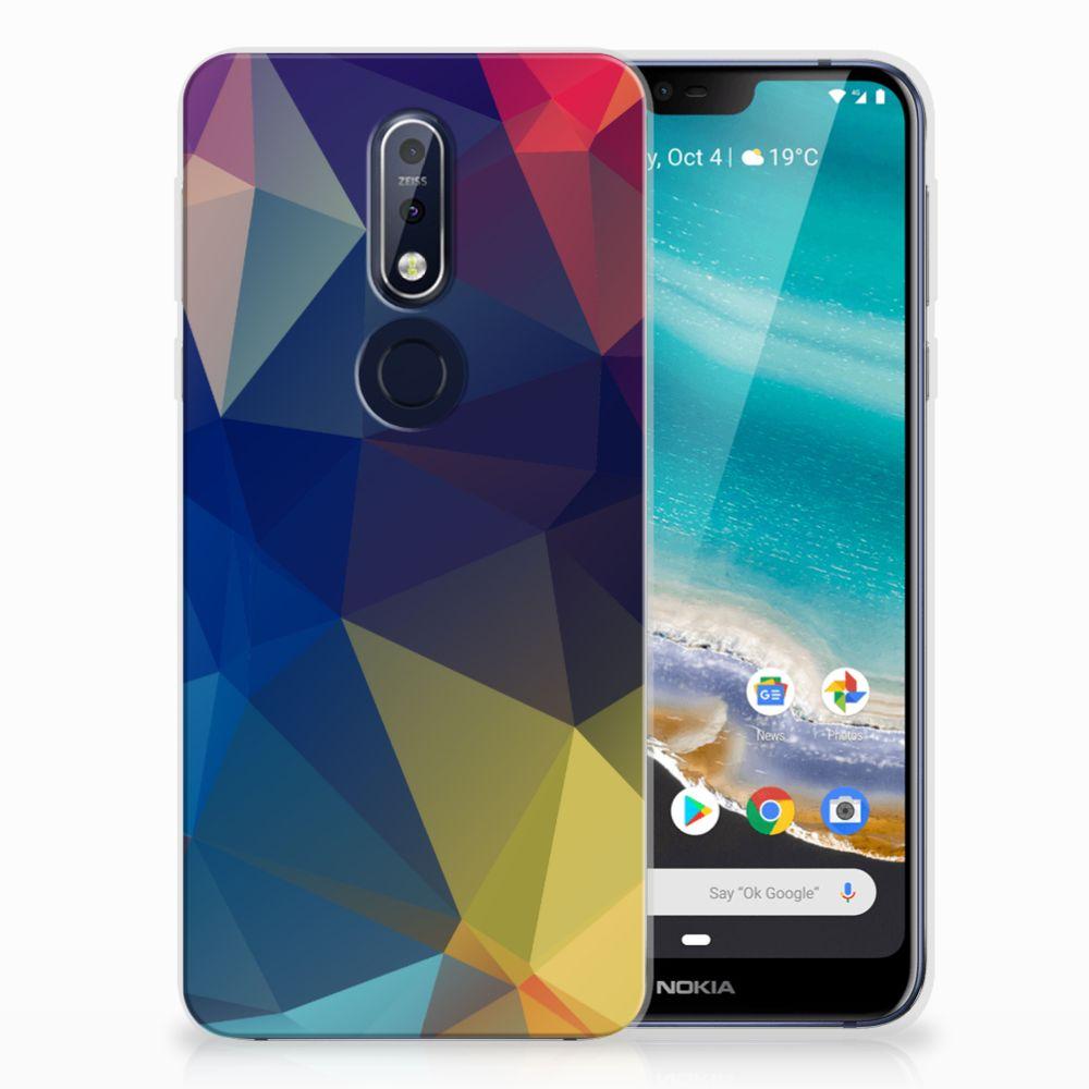 Nokia 7.1 TPU Hoesje Polygon Dark