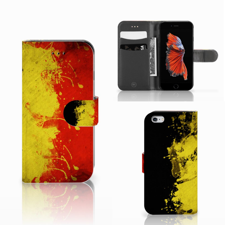 iPhone 6 Bookstyle Hoesje Belgische Vlag