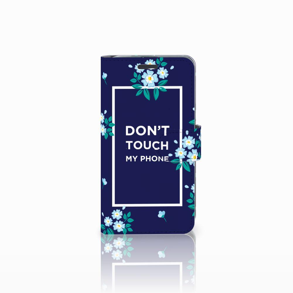 Acer Liquid Z520 Boekhoesje Flowers Blue DTMP