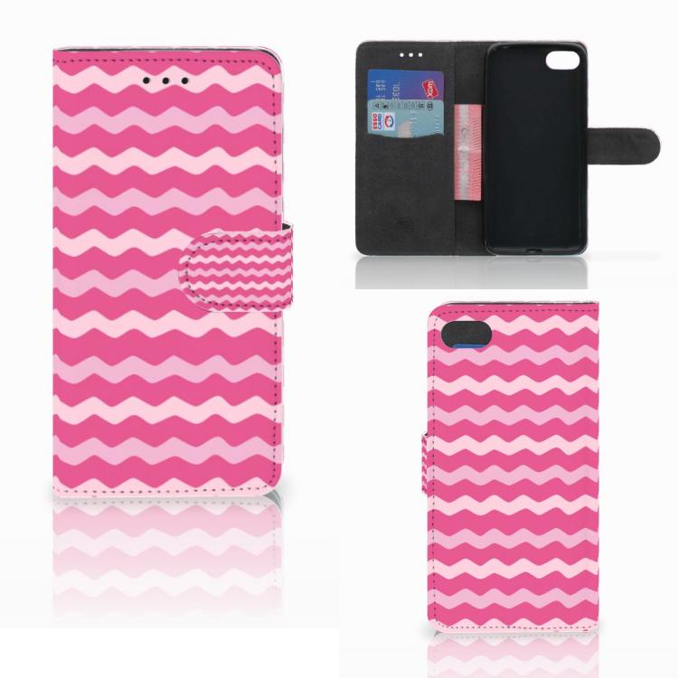 Huawei Y5 2018 Telefoon Hoesje Waves Pink