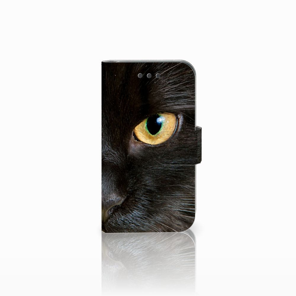 Samsung Galaxy Core 2 Uniek Boekhoesje Zwarte Kat