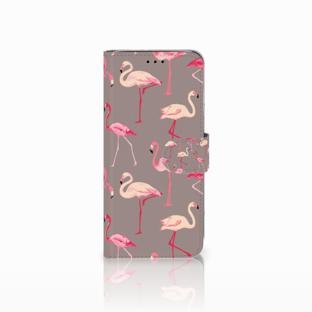 Samsung Galaxy A6 2018 Uniek Boekhoesje Flamingo