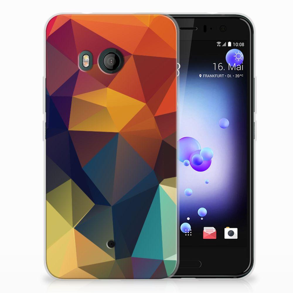 HTC U11 TPU Hoesje Design Polygon Color