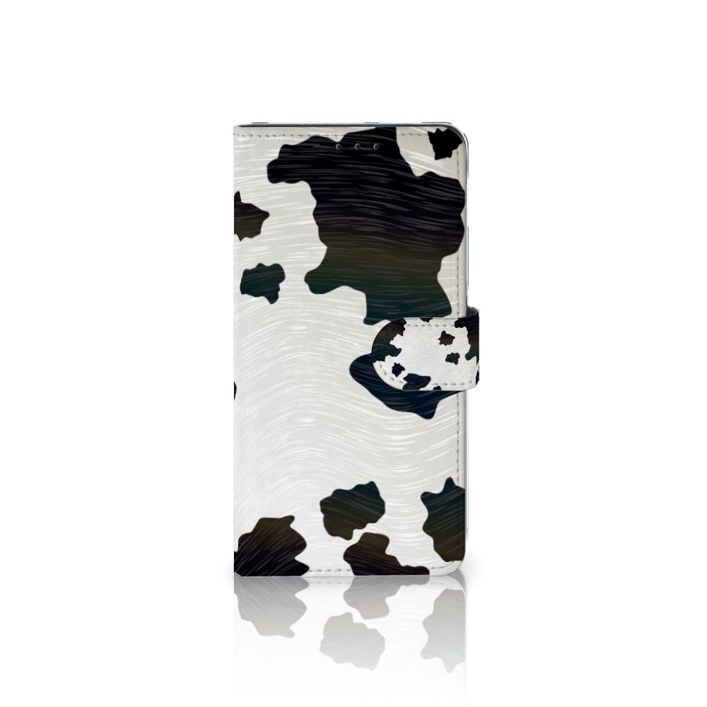 Samsung Galaxy A8 Plus (2018) Boekhoesje Design Koeienvlekken