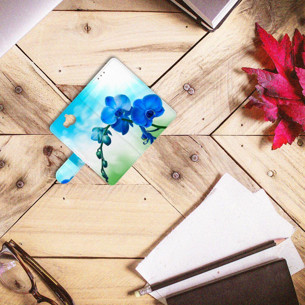 Huawei Y5 | Y6 2017 Boekhoesje Design Orchidee Blauw
