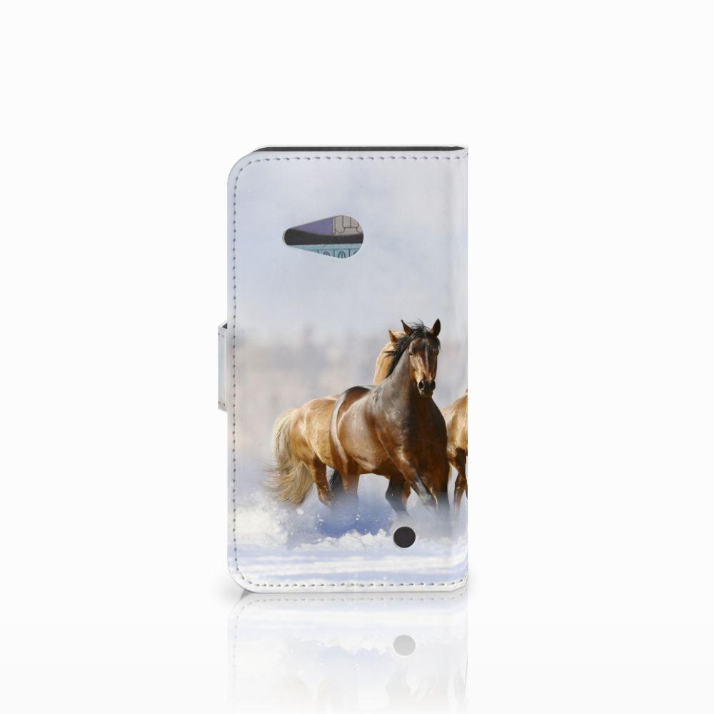 Microsoft Lumia 550 Telefoonhoesje met Pasjes Paarden