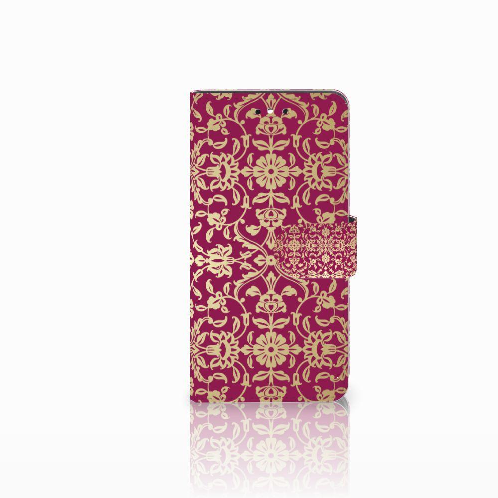 Huawei P8 Lite Smart (GR3) Boekhoesje Design Barok Pink