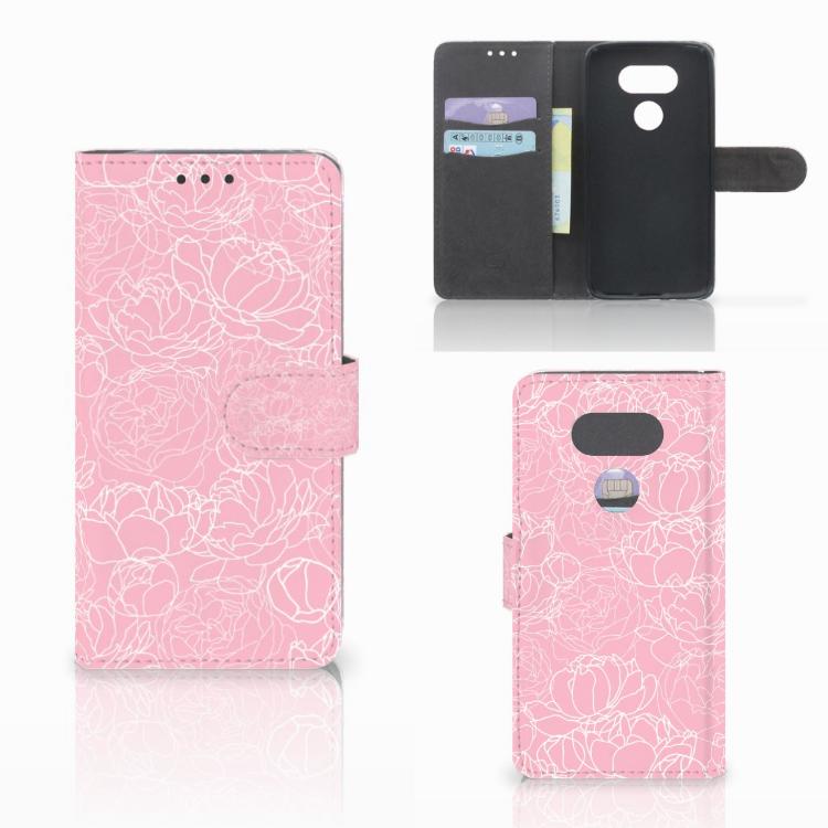 LG G5 Wallet Case White Flowers