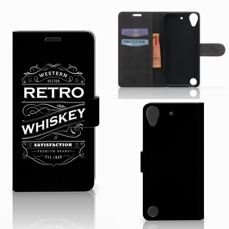 HTC Desire 530 Book Cover Whiskey