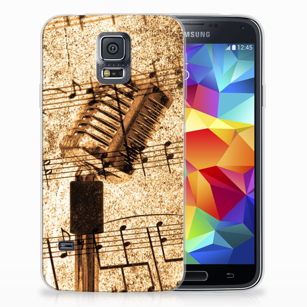 Samsung Galaxy S5 Uniek TPU Hoesje Bladmuziek