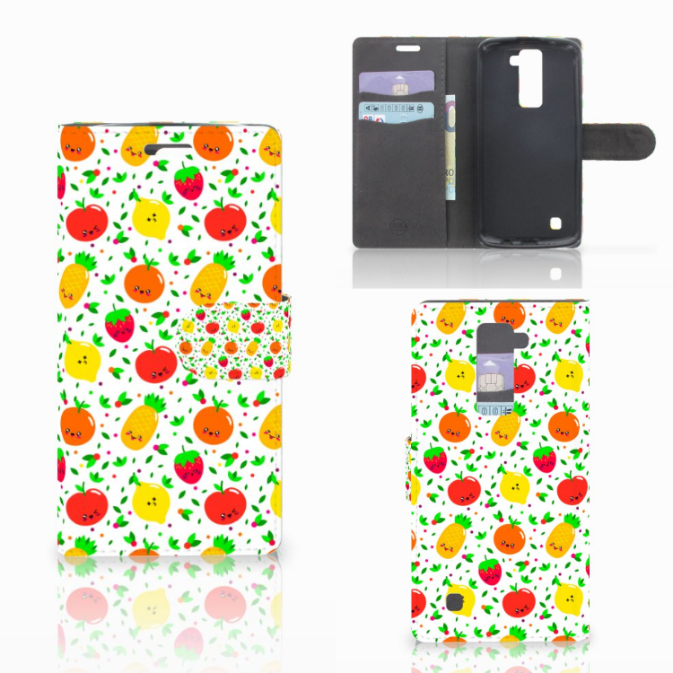 LG K10 2015 Book Cover Fruits