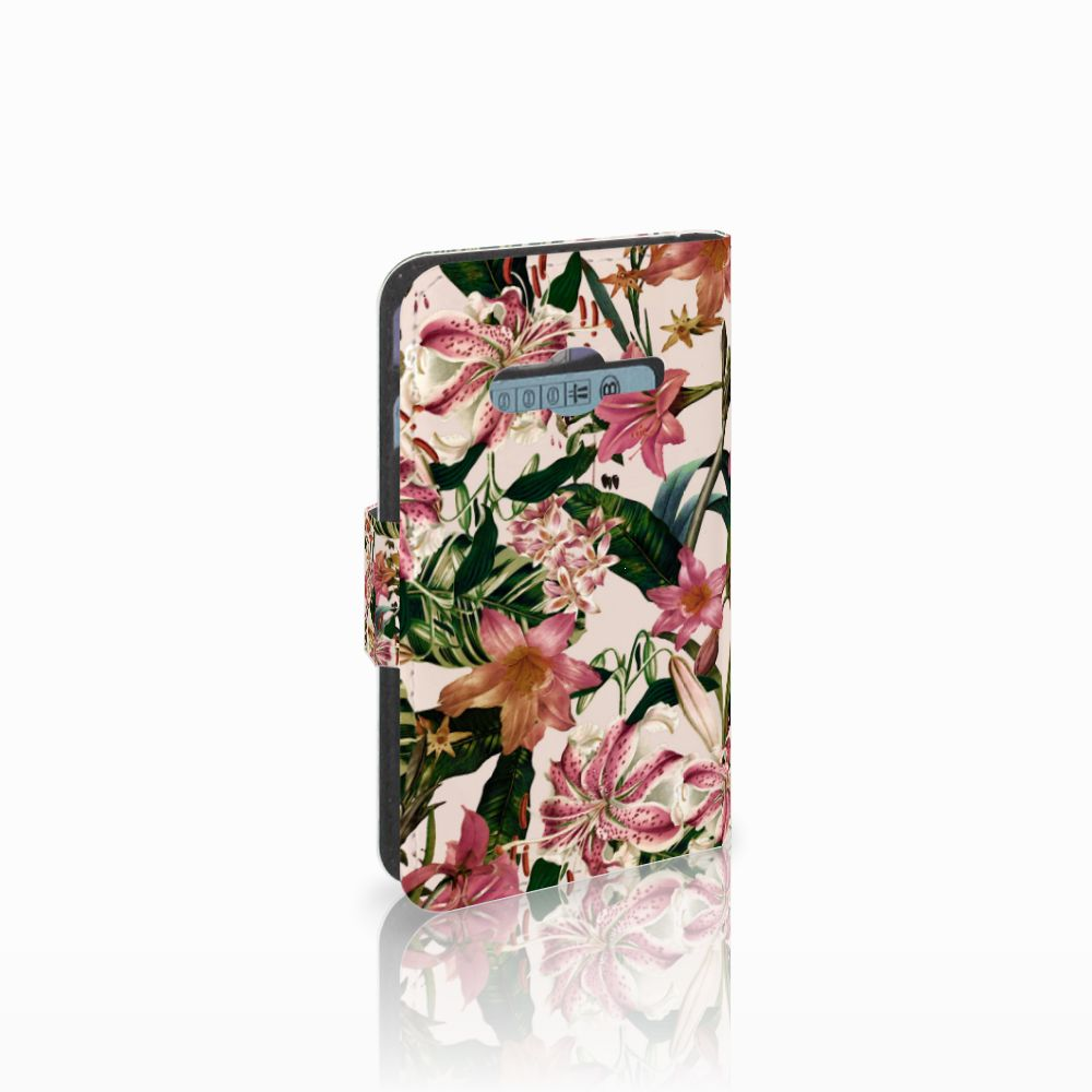 Samsung Galaxy Trend 2 Uniek Boekhoesje Flowers