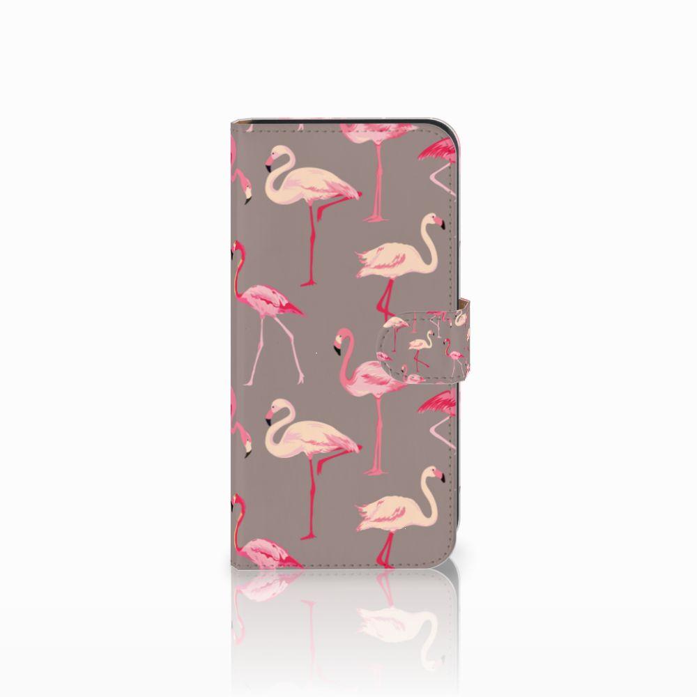 Samsung Galaxy E7 Uniek Boekhoesje Flamingo
