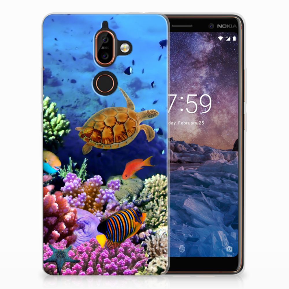 Nokia 7 Plus TPU Hoesje Design Vissen