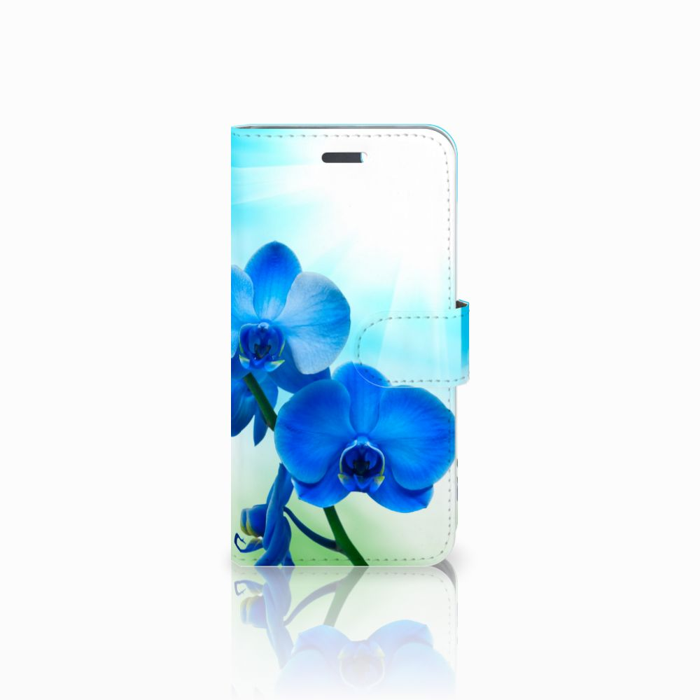 Lenovo Vibe K5 Boekhoesje Design Orchidee Blauw