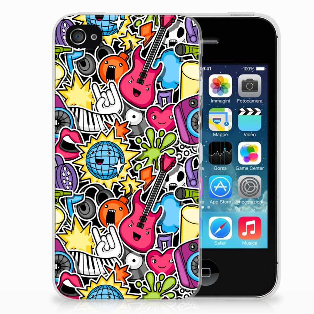 Apple iPhone 4 | 4s Uniek TPU Hoesje Punk Rock