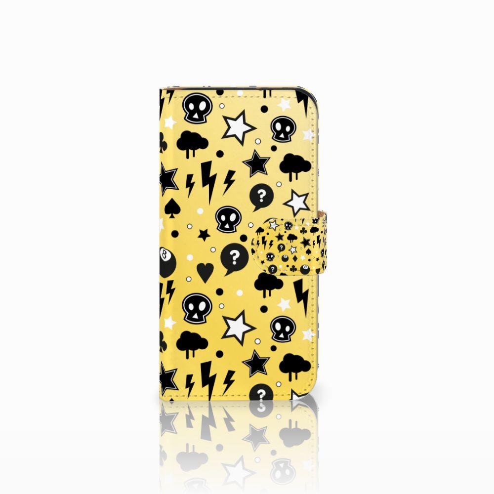 HTC One Mini 2 Uniek Boekhoesje Punk Yellow