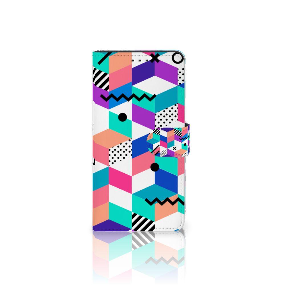 Samsung Galaxy A7 (2018) Boekhoesje Design Blocks Colorful