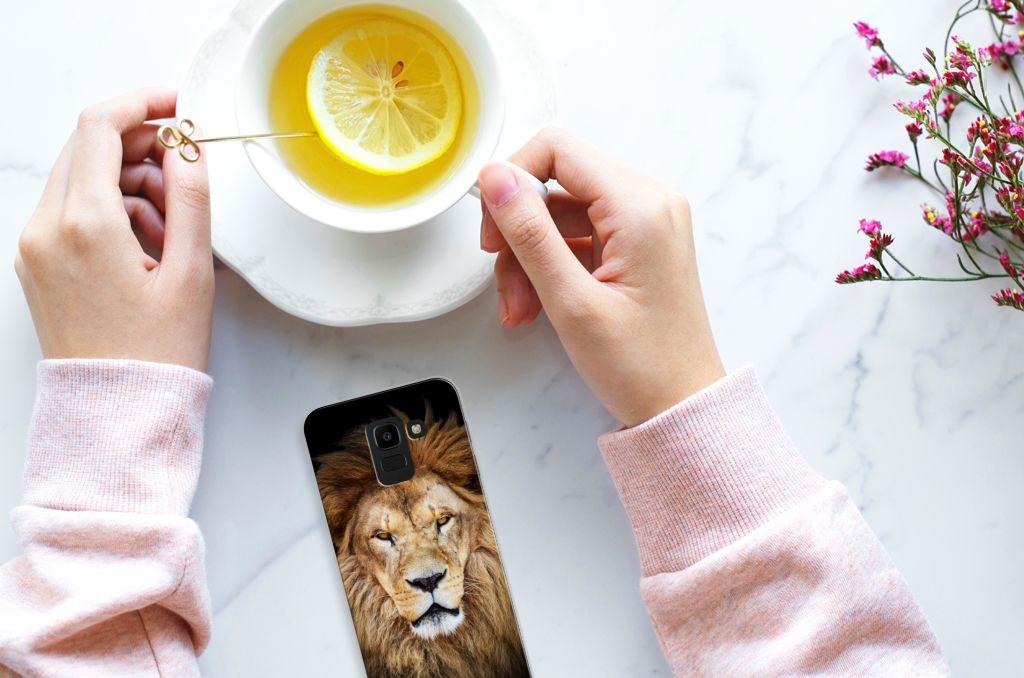 Samsung Galaxy J6 2018 TPU Hoesje Design Leeuw