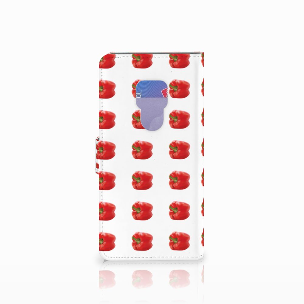 Huawei Mate 20 Book Cover Paprika Red