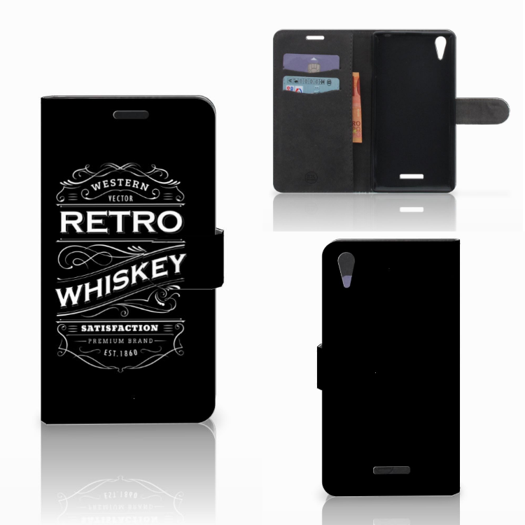 Sony Xperia T3 Book Cover Whiskey