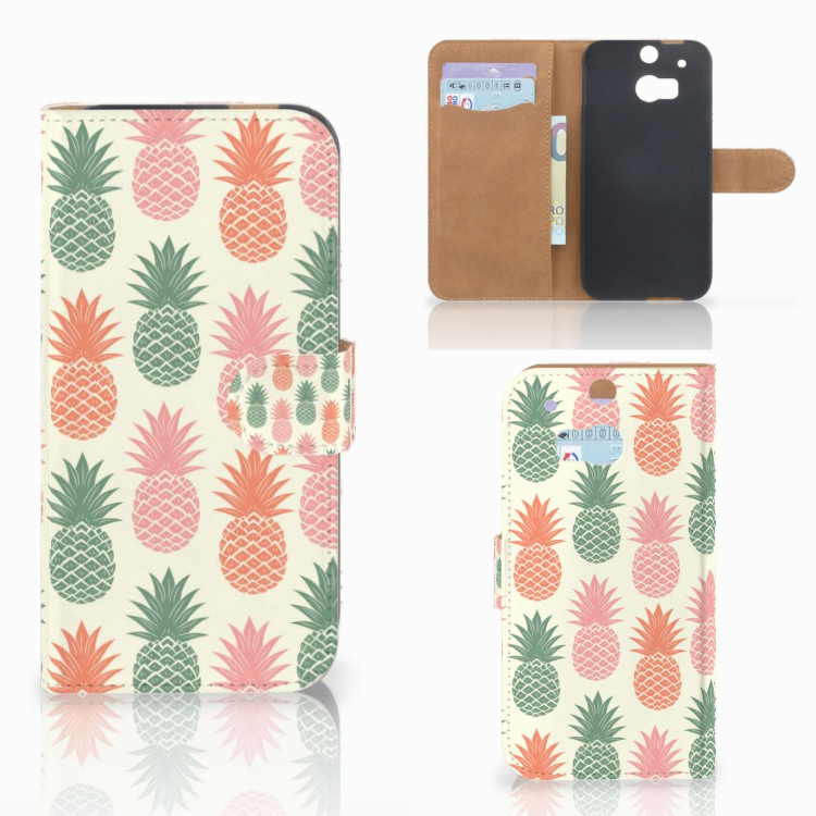 HTC One M8 Book Cover Ananas