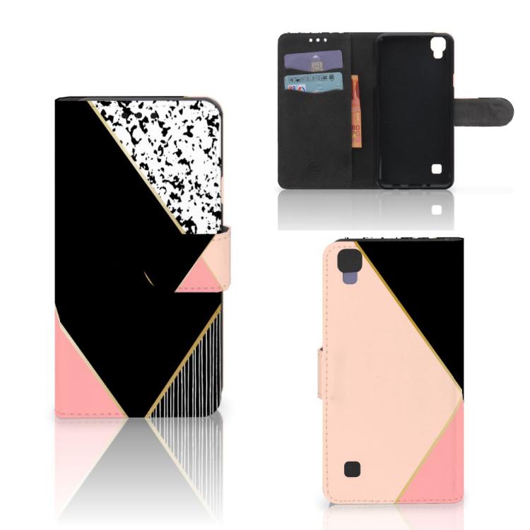 LG X Style Bookcase Zwart Roze Vormen