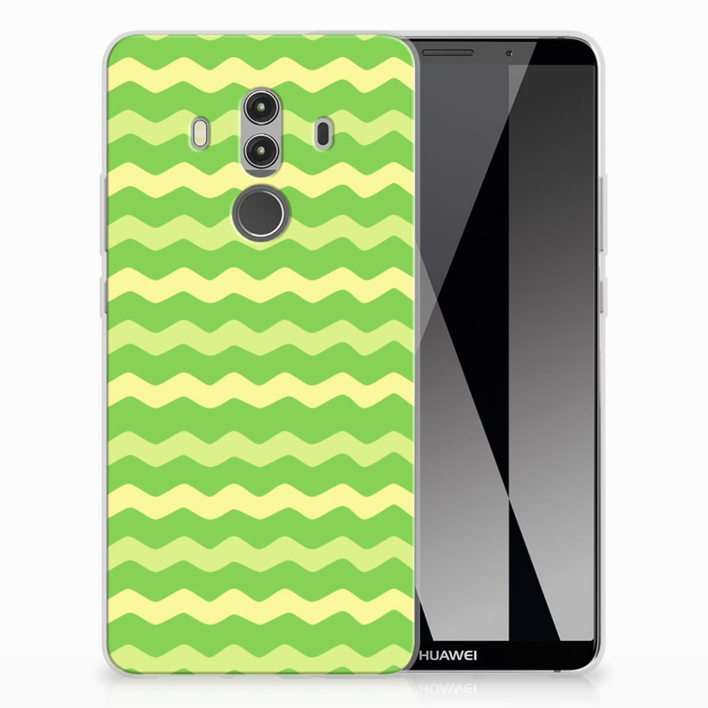 Huawei Mate 10 Pro TPU Hoesje Design Waves Green