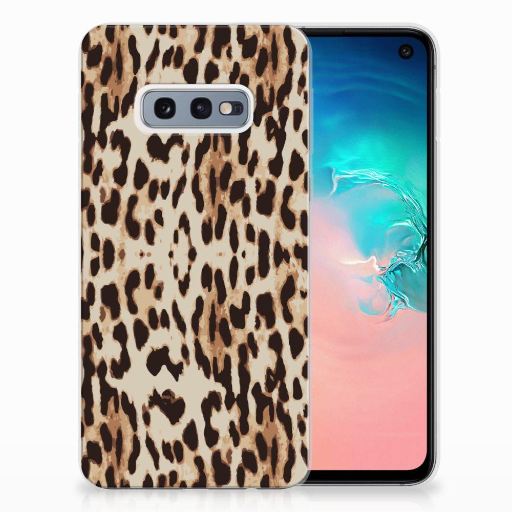 Samsung Galaxy S10e Uniek TPU Hoesje Leopard