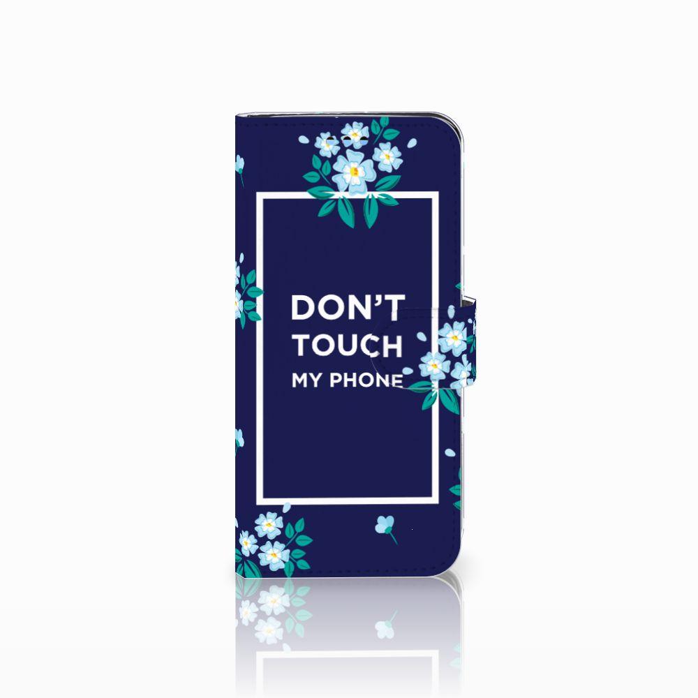 Samsung Galaxy S9 Boekhoesje Flowers Blue DTMP