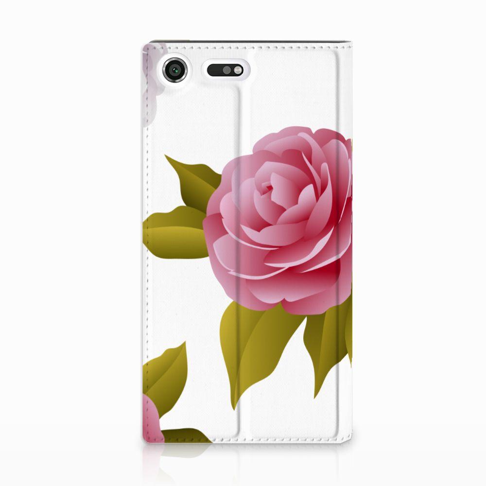 Sony Xperia XZ Premium Uniek Standcase Hoesje Roses