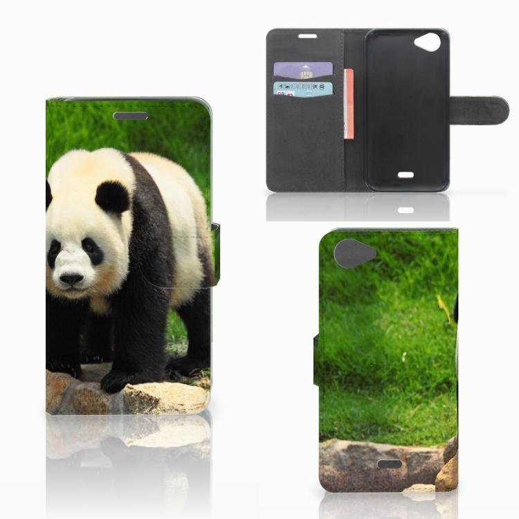 Wiko Rainbow Jam Telefoonhoesje met Pasjes Panda