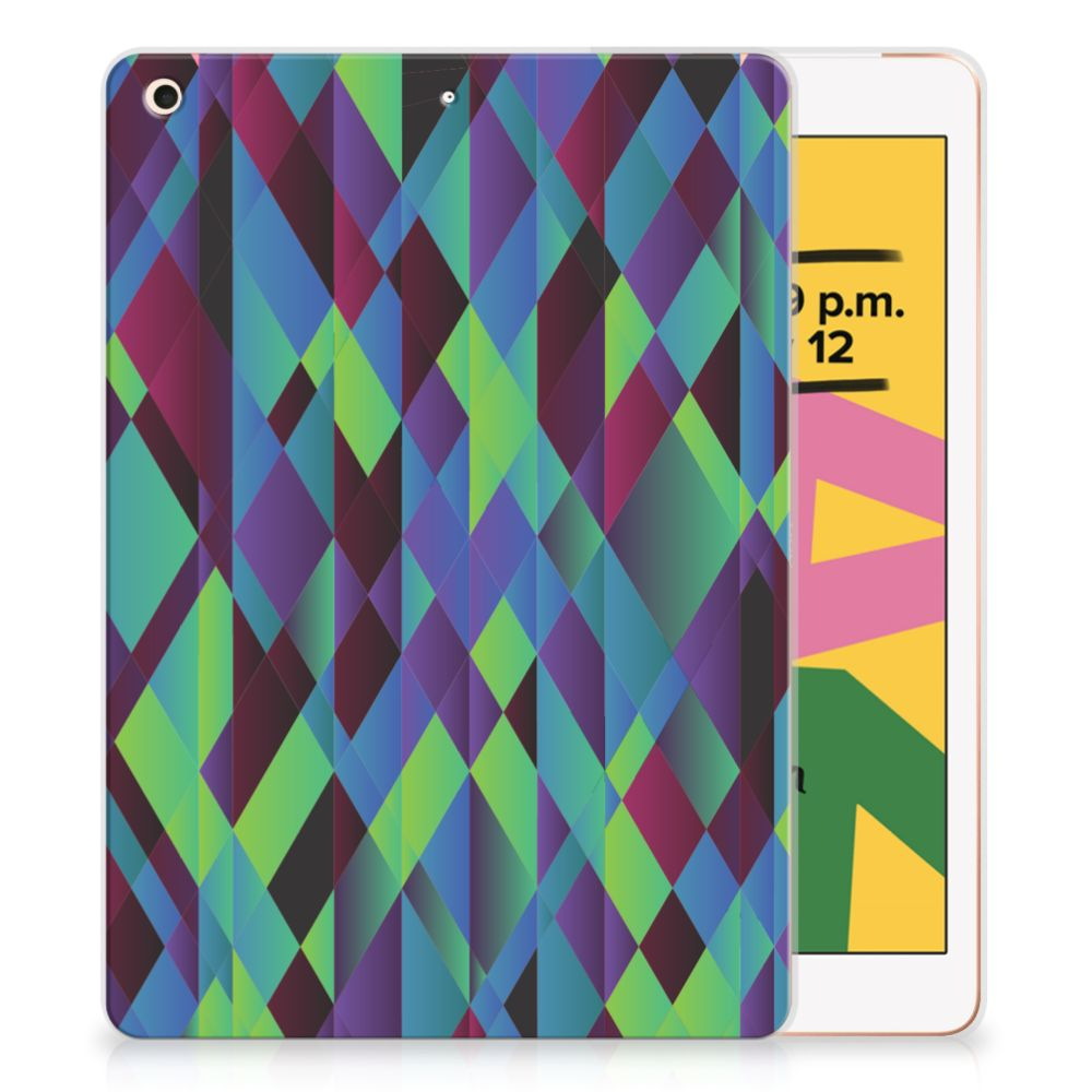 Apple iPad 10.2 (2019) Back Cover Abstract Green Blue